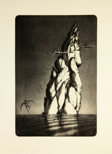 'A Lot more - etat II' 27x40cm, etching, 2011