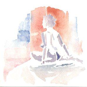 Study 2, Watercolor, 2000
