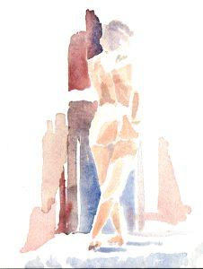 Study 4, Watercolor, 2000