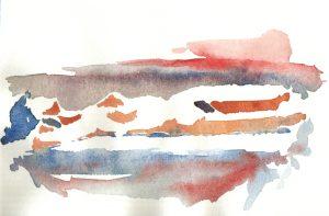 Study 5, watercolor, 2000