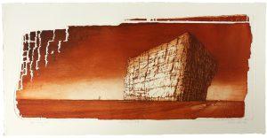 'And this was left-etat I' 70x32cm, etching, 2009