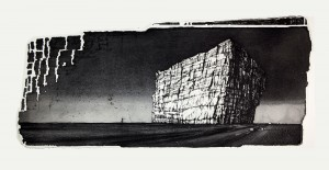 'And this was left-etat II' 70x32cm, etching, 2009