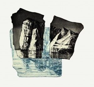 'Floating elements' 44x46cm, etching, 2007