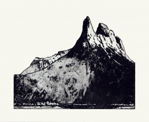 'Northern Mountains VI' 48x43cm, etching, 2004