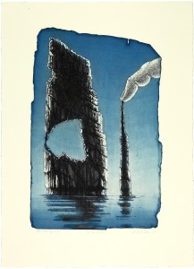 'To the  point' etching, 27x41cm, 2010