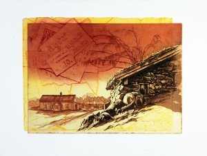'Traces' 39x30cm, etching, 2012