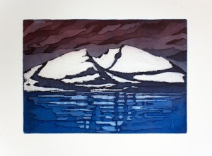 'Winter', 45x31cm, etching, 2012