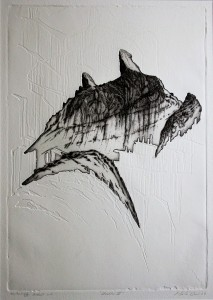 'Stucture III'_31x44cm,_drypoint, relief etching, 2007