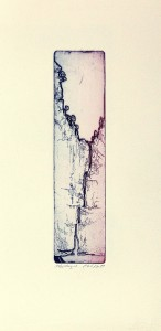 'Untitled' 8,5x34cm, relief and softground etching, Martin Due 1999