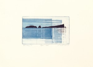 'Westward Islands' 18x11, dry point and aquatint etching, Martin Due 2000